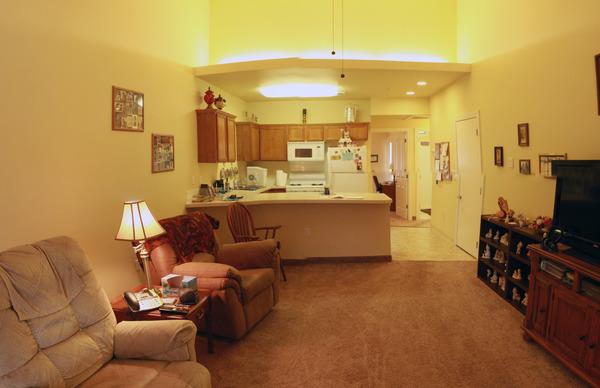 Meridian Exterior Back View Living Room Condo ...